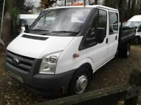 2011 Ford Transit 2.4TDCi DOUBLE CAB TIPPER/PICKUP NO VAT 60000 MILES GUARANTEED