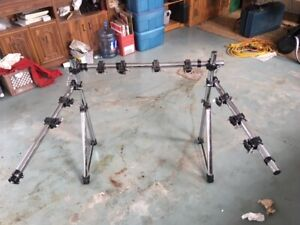 DRUM RACK SETUP FOR SALE WITH 9 CLAMPS