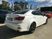 2011 Lexus IS250 GSE20R MY11 F Sport White 6 Speed Semi Auto Sedan Southport Gold Coast City Preview