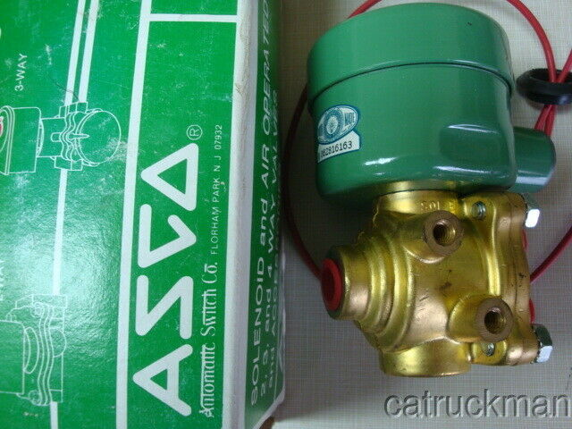 "NIB ASCO Red Hat 4 Way Solenoid Valve w/ 3/4"" Ports  8342C2"