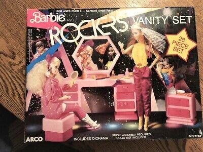 1986 Barbie And The Rockers Vanity Set Includes Diorama, NIB