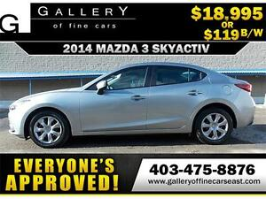 2014 Mazda Mazda3 GX-SKY $119 bi-weekly APPLY NOW DRIVE NOW