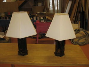 Beautiful Pair of Matching Chinese Lacquered Lamps