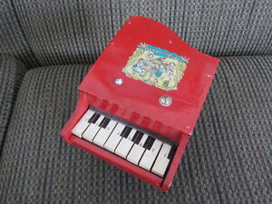 Vintage Red Toy Piano