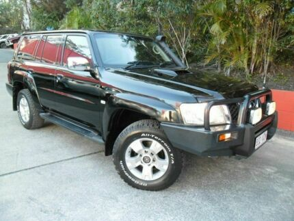 2004 Nissan Patrol GU IV MY05 ST-S Black 5 Speed Manual Wagon Ashmore Gold Coast City Preview
