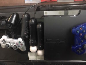PS3 Console + 3 Wireless Controllers +13 Games+ Playstation Move