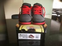 kids Grey/Red Heeleys, size UK 3 BRAND NEW