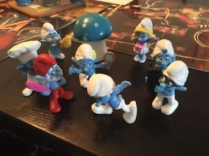 8 smurfs. AVAILABLE