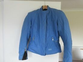 Blue Medium size IXS Ladies motorcycle jacket