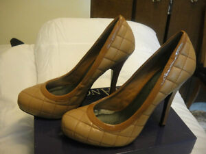 women's tan high heels