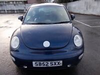 VOLKSWAGEN BEETLE 1.6 HATCHBCK 52 REG,, CLEAN CAR FOR YEAR ,, MOT MARCH 13TH 2018