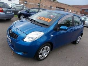 2005 Toyota Yaris NCP91R YRS Caribbean Blue 4 Speed Automatic Hatchback Belmore Canterbury Area Preview
