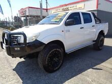 2012 Toyota Hilux KUN26R MY12 SR (4x4) White 4 Speed Automatic Dual Cab Pick-up Sandgate Newcastle Area Preview