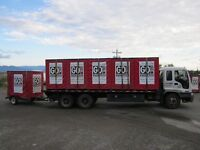 Empty truck from Victoria to Kamloops on September 6, 2015
