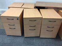 Beech pedestal under desk drawers. Delivery.