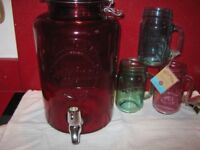 KILNER 5 LTR DRINK DISPENSER AND 3 NEW CUPS £12