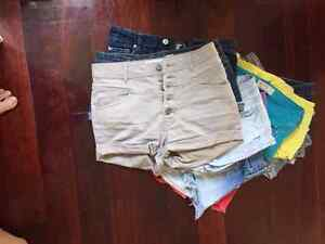 lot de shorts pour adolescentes