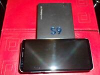 SAMSUNG S9 - 64GB BLUE WITH LED CASE