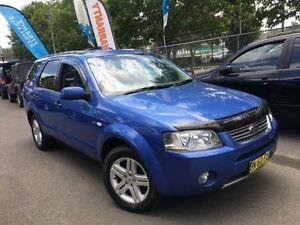 2004 Ford Territory SX Ghia (4x4) Blue 4 Speed Auto Seq Sportshift Wagon Campbelltown Campbelltown Area Preview