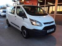 2015 Ford Transit Custom 2.2TDCi 125 Double CREW CAB 290 L1H1 BUY FOR £60 A WEEK