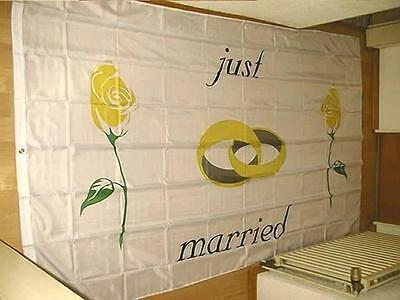 Fahnen Flagge Just Married  - 1 - 150 x 250 cm