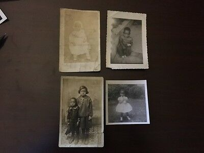 Vintage Photographs of African American Children - Lot of 4