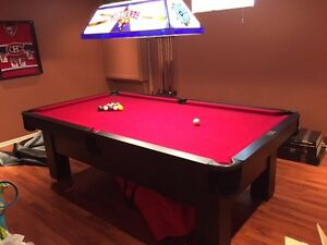 Standard Pool Table w/h Stain Glass Light