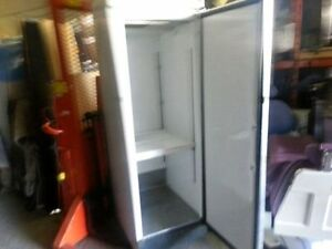 Single door white upright cooler!Cold working !SAVE!