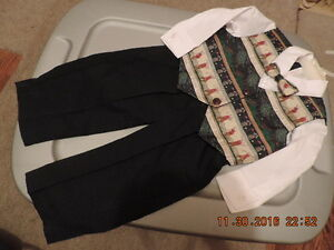 Boy's Size 18 months Pants, Shirt, Vest & Tie - NEW