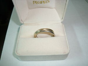 14K Men's Tricolour Gold Rolling Wedding Band