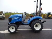 New/Unused New Holland Boomer 25, 4wd tractor, 2 speed Hydro