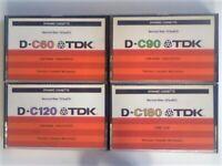 JL TDK D LENGTHS & YEAR JOB LOTS; 1979 1982-84 1986-87 1988-9 1990-5 1995-7 1997-2001 CASSETTE TAPES
