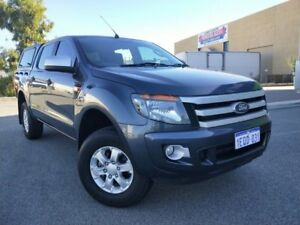 2014 Ford Ranger PX XLS 3.2 (4x4) Grey 6 Speed Automatic Dual Cab Utility Malaga Swan Area Preview