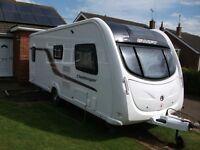 Swift Challenger 570 SR (sunroof) 2011 single axle 4 berth fixed bed luxury touring caravan