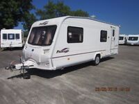 2006 BAILEY PAGEANT BRETAGNE 6 BERTH END BUNK REAR GARAGE CARAVAN WITH FULL AWNING