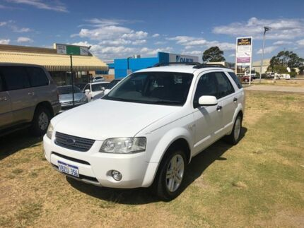 2005 Ford Territory SY Ghia (4x4) White 6 Speed Auto Seq Sportshift Wagon Wangara Wanneroo Area Preview