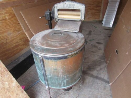 ANTIQUE  {EASY} COPPER ELECTRIC WASHING MACHINE MODEL M