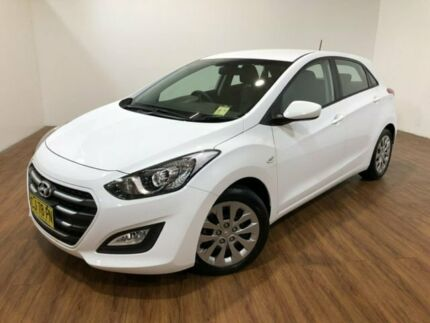2016 Hyundai i30 GD4 Series II MY17 Active White 6 Speed Sports Automatic Hatchback Kingsgrove Canterbury Area Preview