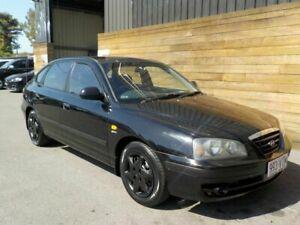2003 Hyundai Elantra XD MY04 Black 4 Speed Automatic Hatchback Labrador Gold Coast City Preview