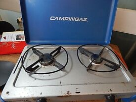 TWO RING GAS BURNER FOR CAMPING OR USE IN THE GARDEN