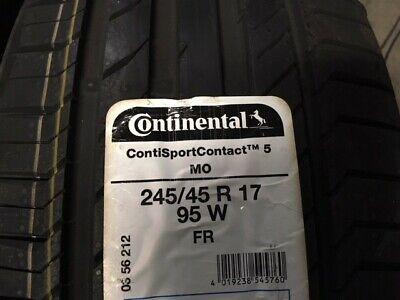 1 Continental SportContact 5 245/45 R17 95W MO Sommerreifen Mercedes E-Klasse
