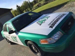 Sask Roughrider Car