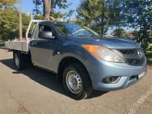 2012 Mazda BT-50 XT (4x2) Blue 6 Speed Manual Cab Chassis Granville Parramatta Area Preview