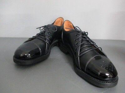 Auth SANDERS Black Leather Patent Leather Shoes Men