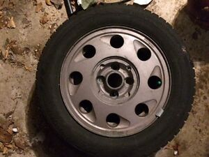 """Winter tires and rims - 185/65R14"""" - $200"""