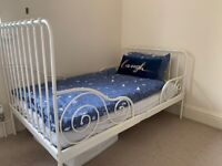Ext Bed Frame With Slatted Base with Mattress