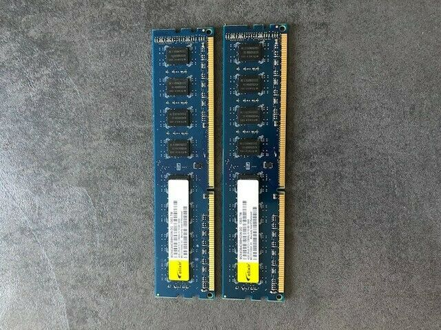 Lot de 2x4 gb ram ddr3 elixir / 8go pc3 1600 mhz / pc 12800u pour intel et amd