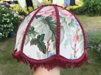 A floral fabric lampshade