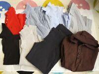 MENS TEENS TOPS SHIRTS TROUSERS BUNDLE GAP H&M PENGUIN SMALL - MEDIUM
