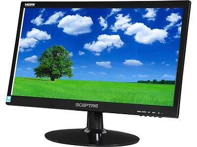 "شاشة ليد جديد SCEPTRE E205W-1600 Black 20"" 5ms HDMI Widescreen LED Backlight LCD Monitor"